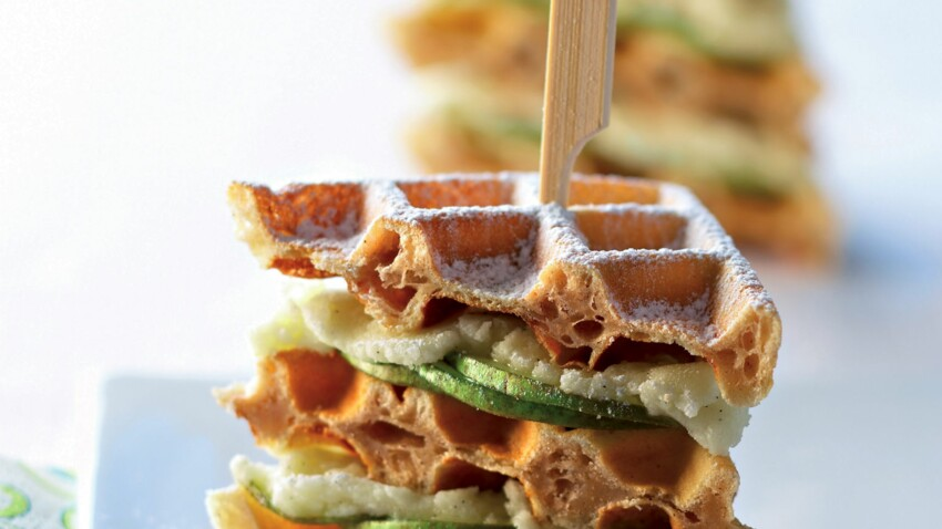 Mini gaufres façon club sandwich