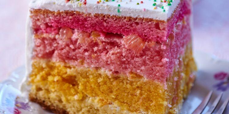 Rainbow cake aux agrumes