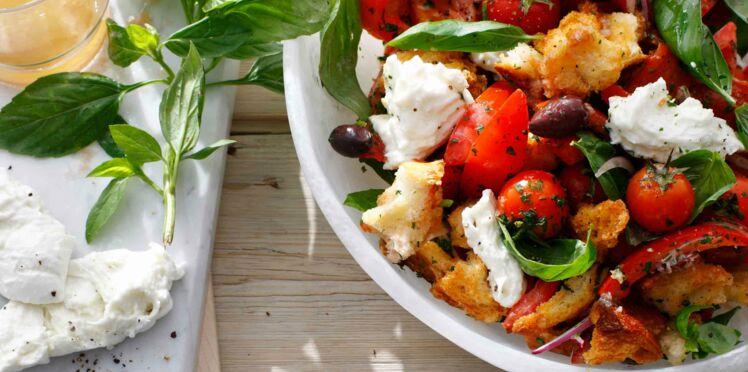 Panzanella à la mozzarella