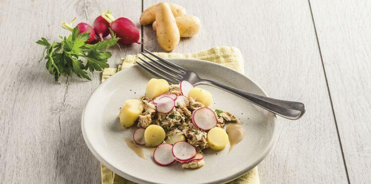Salade de rattes du Touquet aux maquereaux et radis