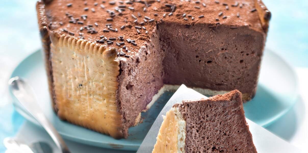 Charlotte au chocolat et petits beurres