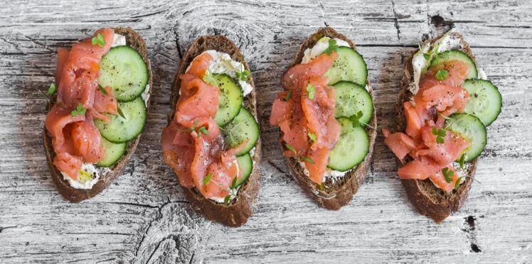 Bruschetta saumon