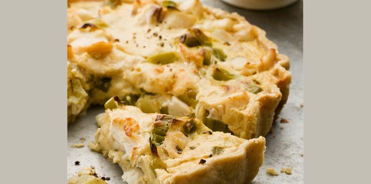 Tarte aux poireaux et au fromage