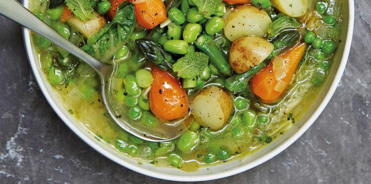 Soupe de légumes primeurs