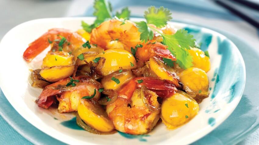 Curry de crevettes aux Mirabelles de Lorraine