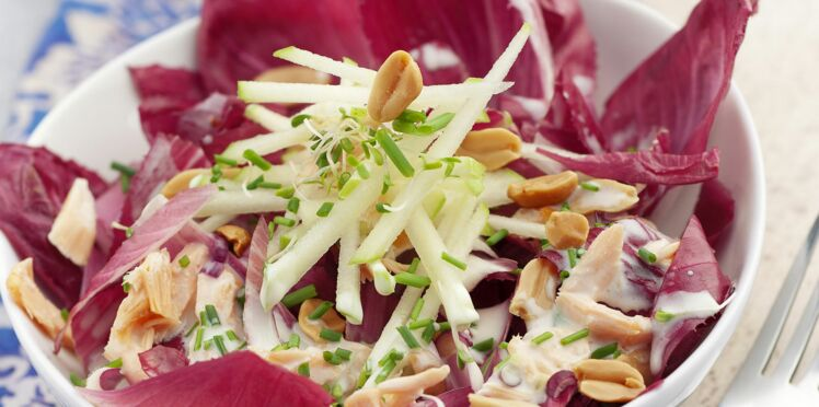 Salade d'endives, saumon et sauce ciboulette