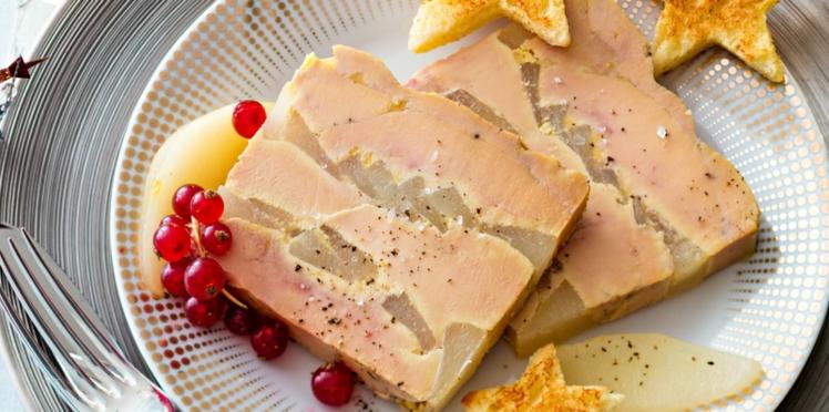 Foie gras au micro-ondes et fines poires au gingembre
