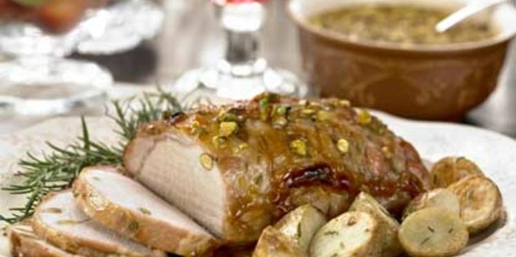 Rôti de porc aux pistaches