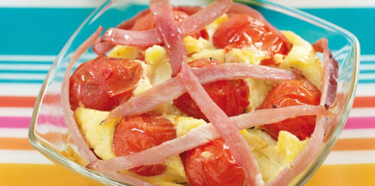 Clafoutis aux tomates et au jambon