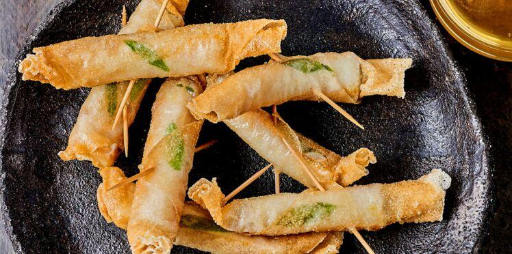 Croustillants de haddock à la mélisse