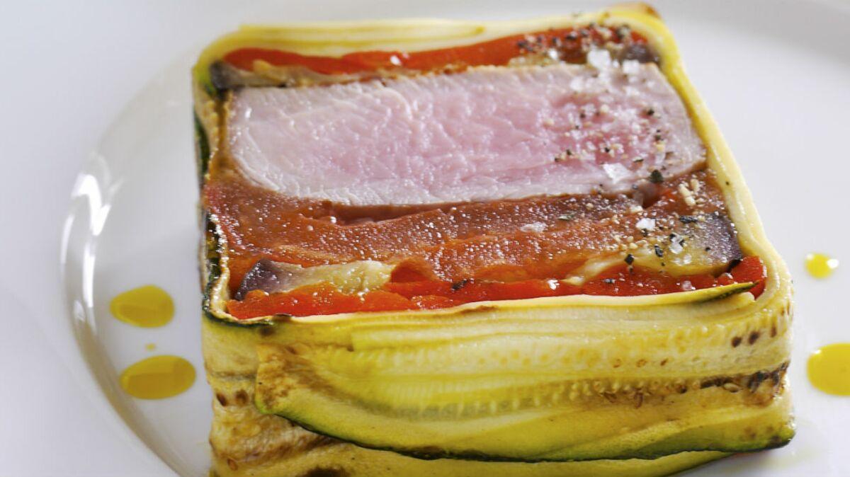 Pressé de filet de veau aux légumes confits