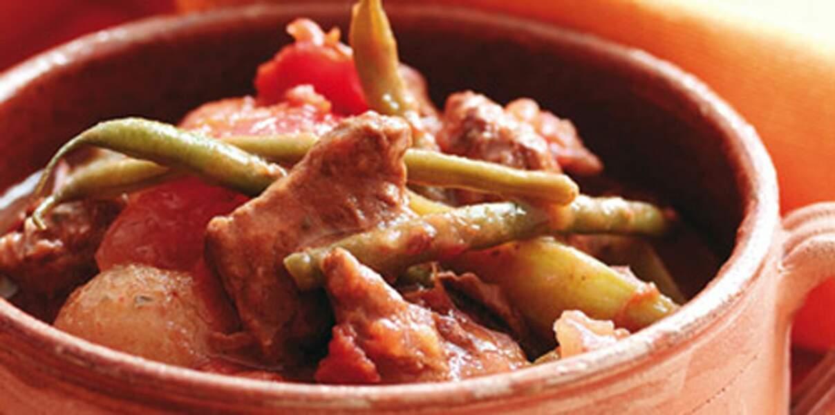 Cocotte de bœuf aux haricots
