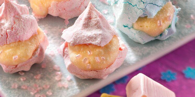 Petites meringues à la mousse de bonbons