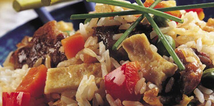 wok de riz au tofu