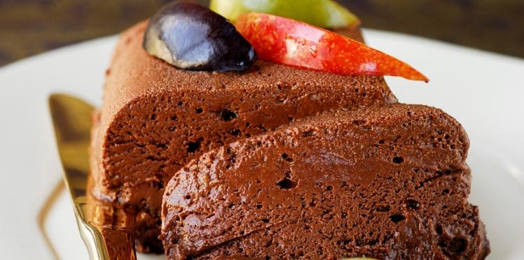 Mousse glacée au chocolat et au rhum