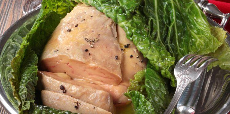 Chou farci au foie gras de canard, à la truffe