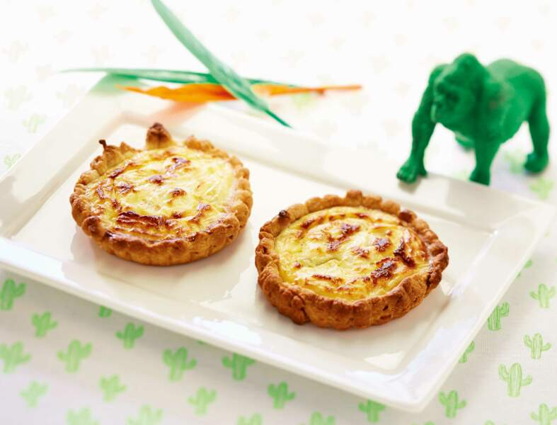 Petites quiches aux endives et fromage frais