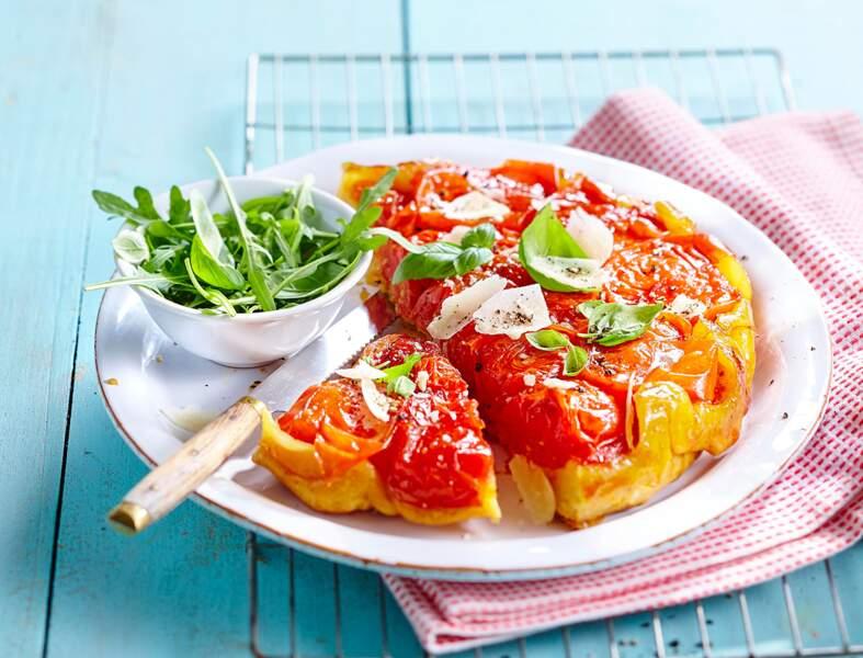 Tatin aux tomates et échalotes