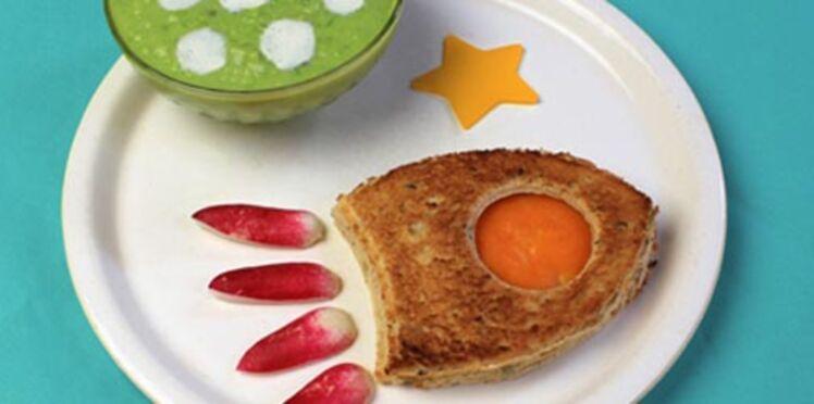 Recette : la planète petit pois et sa fusée au fromage