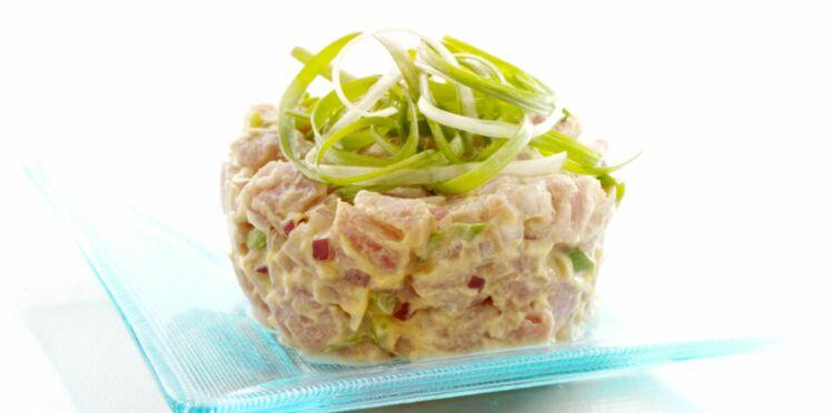 Tartare de saumon au concombre