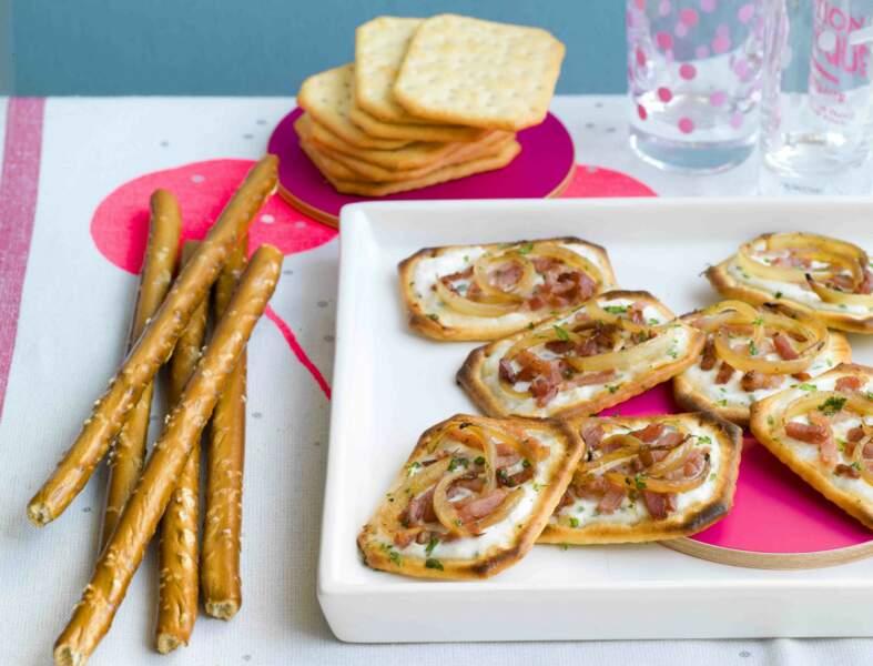 Crackers façon flamenkuche