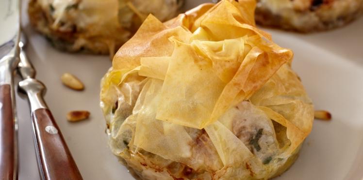 Pastilla de lotte aux épinards