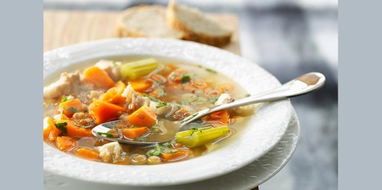 Soupe de légumes à l'épeautre