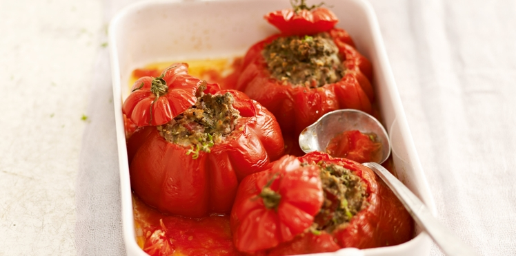 Tomates farcies aux deux viandes de Laurent Mariotte