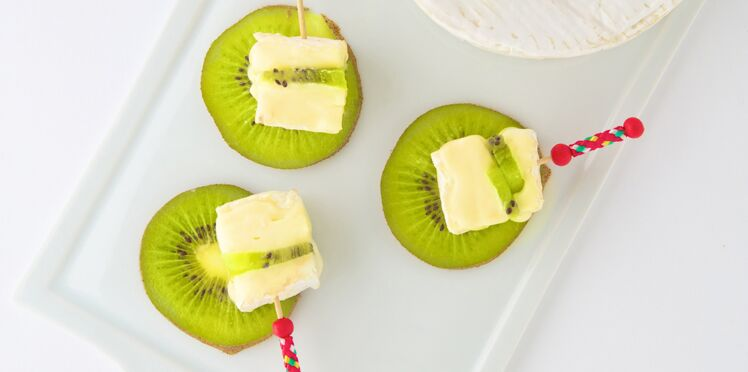 Carpaccio de kiwi et camembert