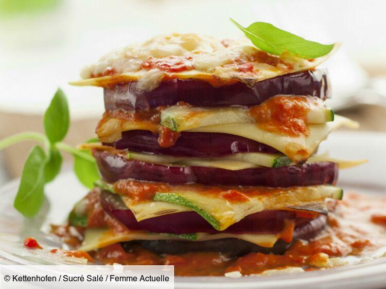 Lasagnes aubergines et courgettes : découvrez les recettes de cuisine de Femme Actuelle Le MAG