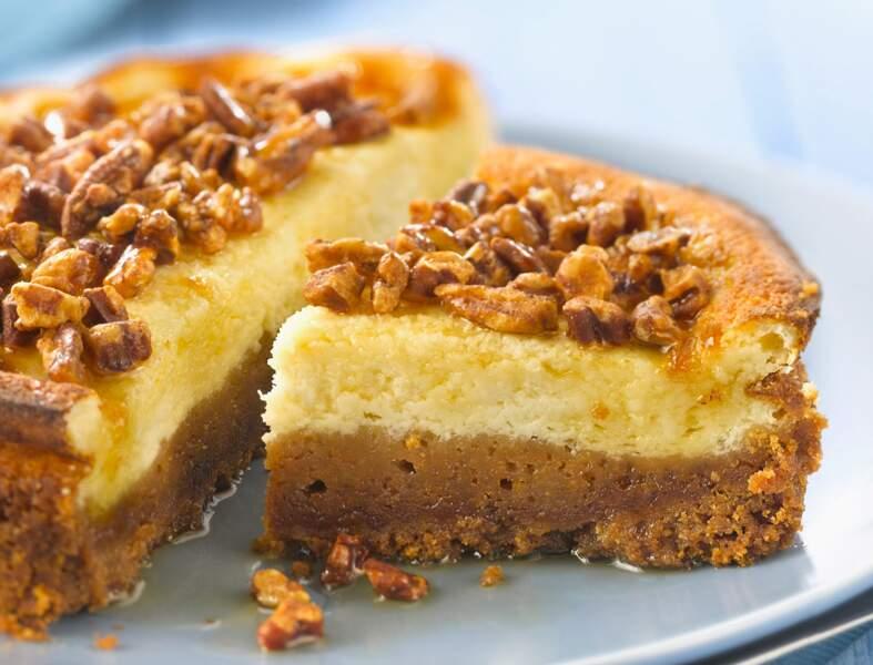 Cheesecake au sirop d'érable et noix de pécan