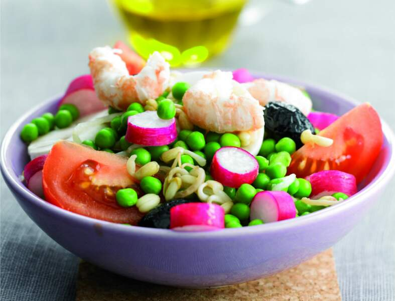 Salade de soja aux langoustines