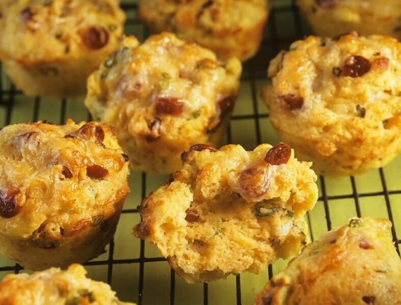 Mini muffins oignon rouge comté
