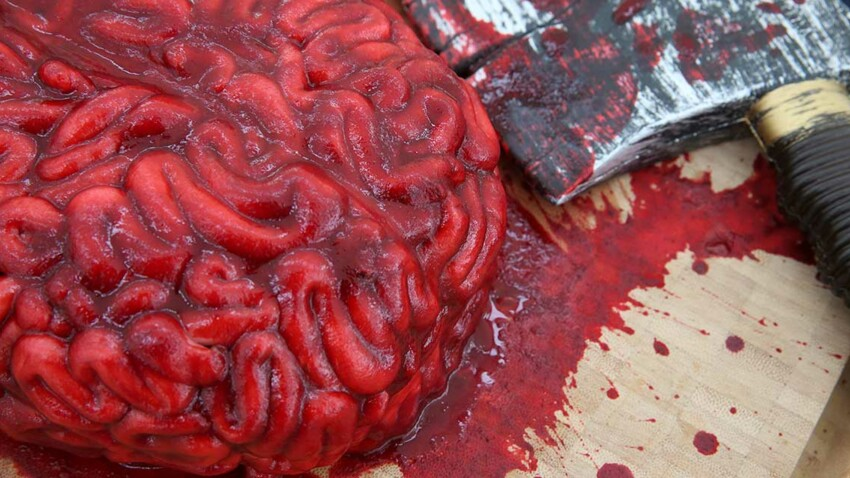 Gâteau cerveau pour Halloween
