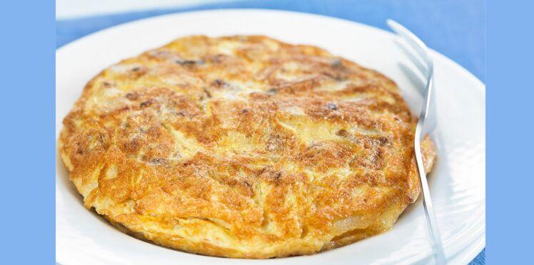 Tortilla de pommes de terre au lard