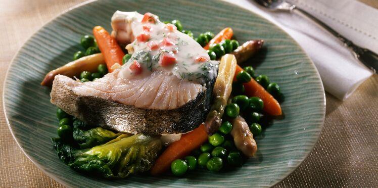 Darnes de merlu aux petits légumes