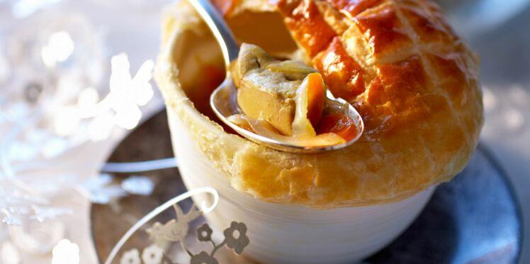 Soupe de foie gras en croûte
