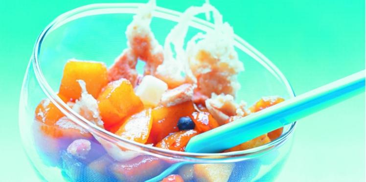 Crumble d'abricot et pomme au Beaufort