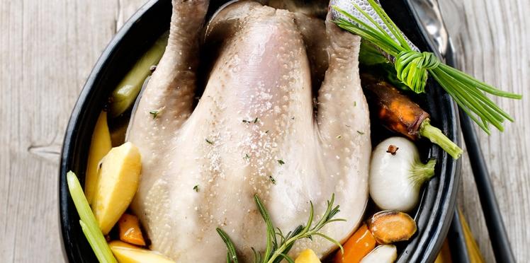 Poule au pot aux légumes anciens
