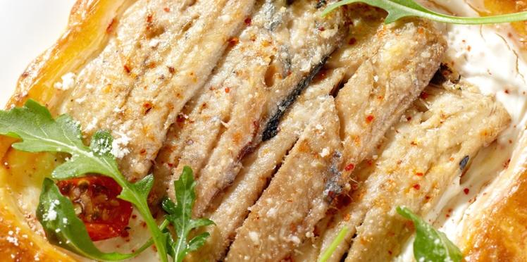 Sardines en tarte fine