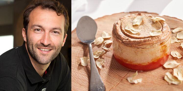 Soufflé croustillant à la châtaigne, marmelade pamplemousse de Cédric Béchade