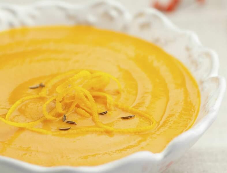 Soupe carotte orange cumin