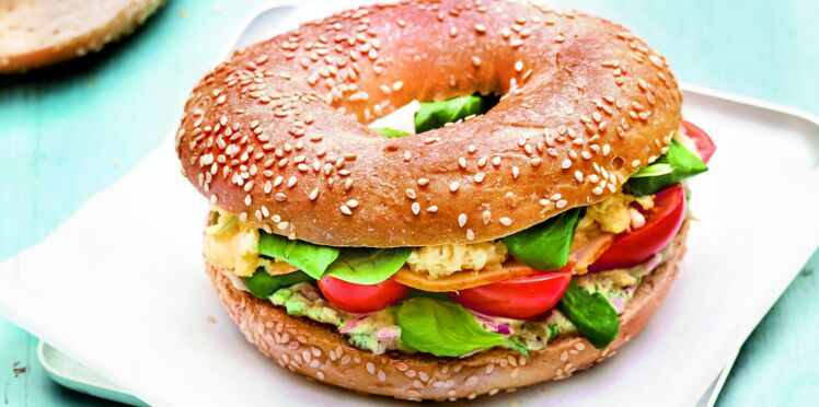 Recette Weight Watchers : Bagel breakfast (8 Smartpoints par pers.)