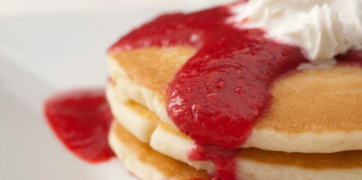 Pancakes aux framboises