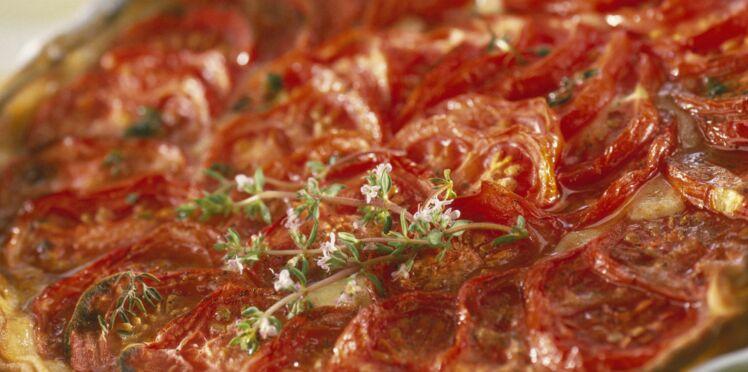 Tarte à la tomate et moutarde