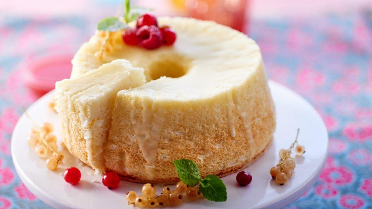 Angel food cake aux fruits rouges