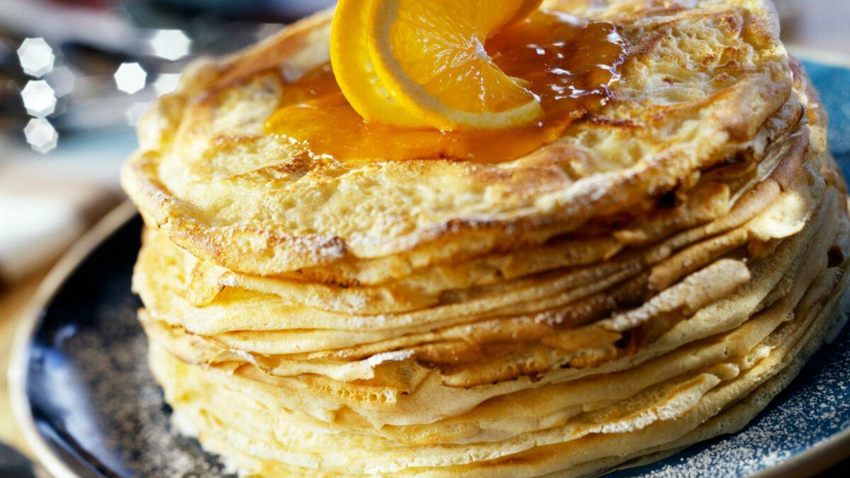 Gâteau de crêpes à l'orange