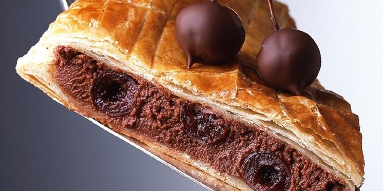 La galette fourrée au chocolat et aux Griottines