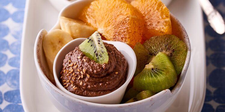 Crème vegan avocat-chocolat