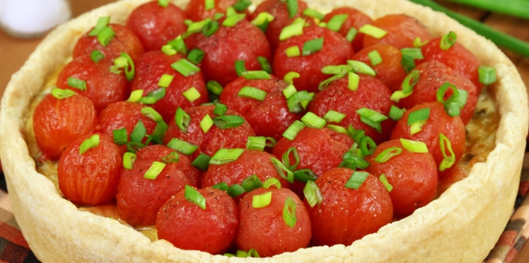 Tarte aux tomates-cerises